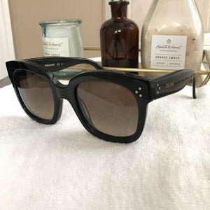 Celine New Audrey Black 54mm Sunglasses EUC